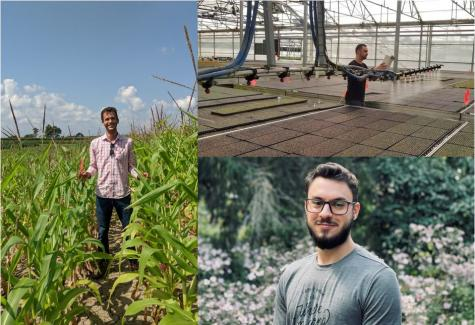 left: Wanderson Novais. above: Fabiano Colet. below: Vinny Cervilieri.  All are pursuing graduate studies at OSU after taking part in The Ohio Program (TOP).
