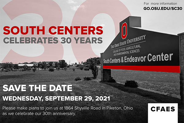 Save the Date: South Centers 30-Year Celebration