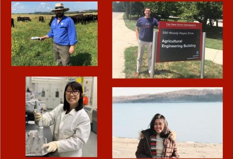 from top left: Drs. Mark Trotter, Kevin McDonnell and Jiraporn Inthasan and graduate student Fitiavana Rajaonarivelo